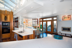 william and wayne-penthouse condo-seattle-kitchen and fireplace