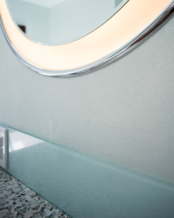 william and wayne design-kenmore master bath room- glass bead wall paper