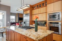 Asian Kitchen Island & Cabinets