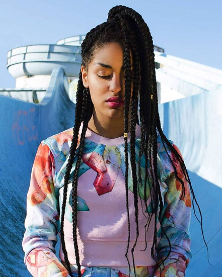 Pink Crystals Crop Sweatshirt