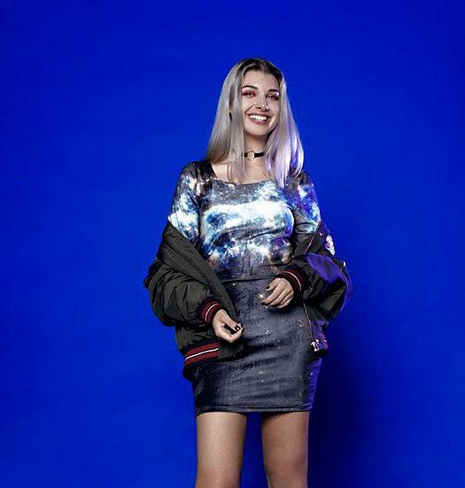 Cosmic velvet bodycon dress