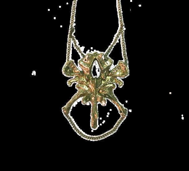 Vertebrae brass necklace