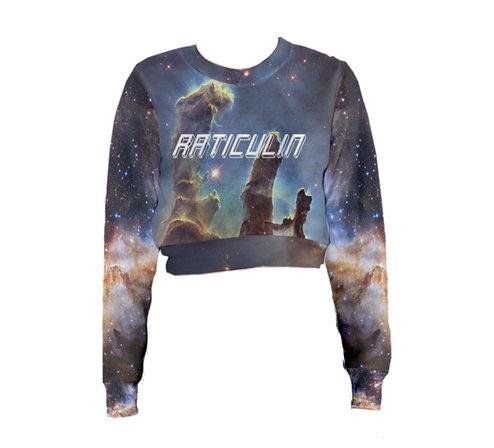 Cosmos crop Raticulín sweatshirt