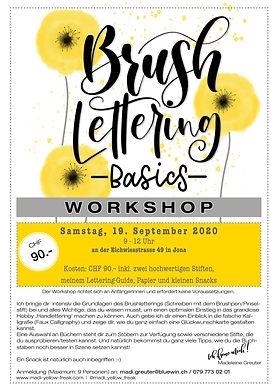 Brushlettering Workshop Jona - 19-09-20.