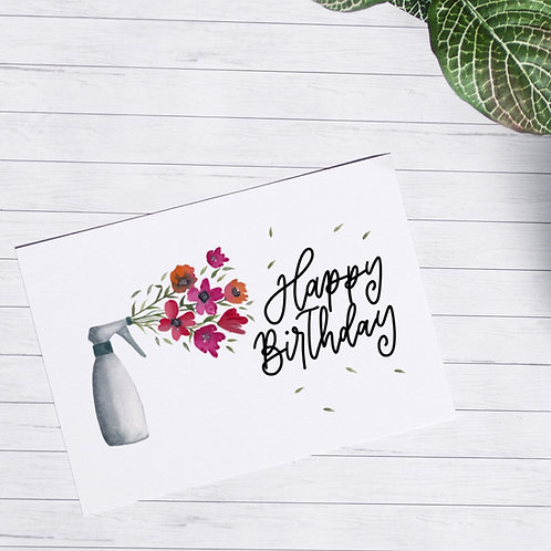 A6-Postkarte Happy Birthday Spray