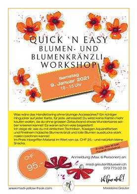 Auschreibung Quick n Easy-Workshop 09-01