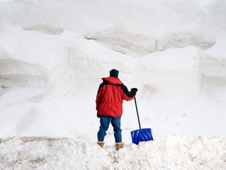 The dangers of shoveling snow