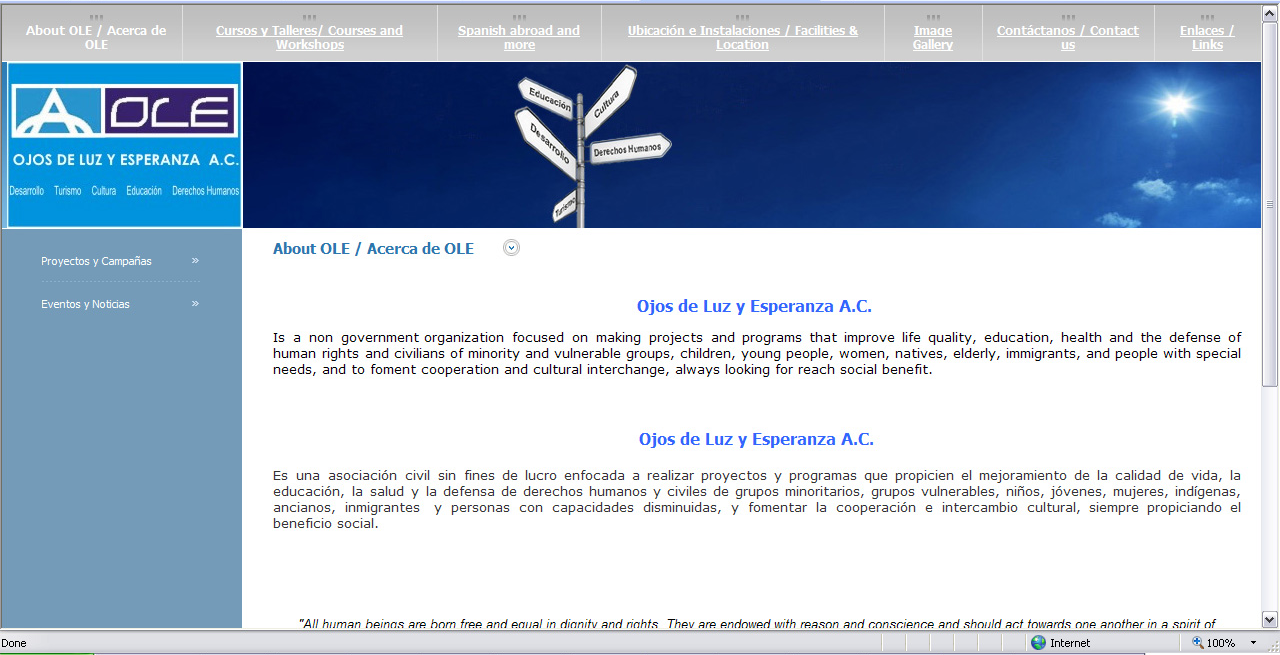 Website OLE A.C.