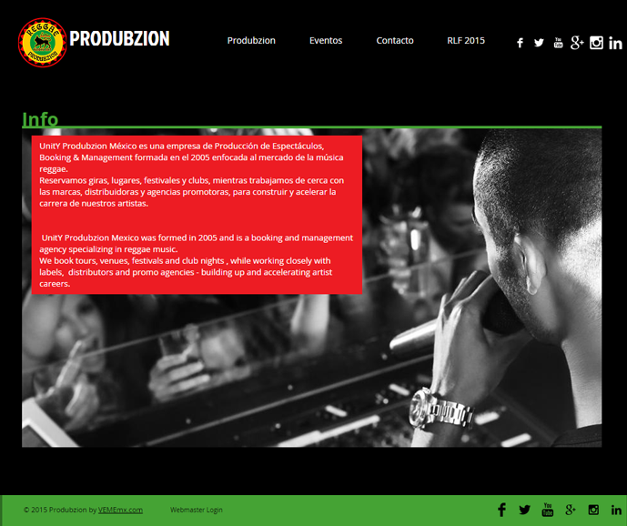 Website Produbzion & RLF 2015