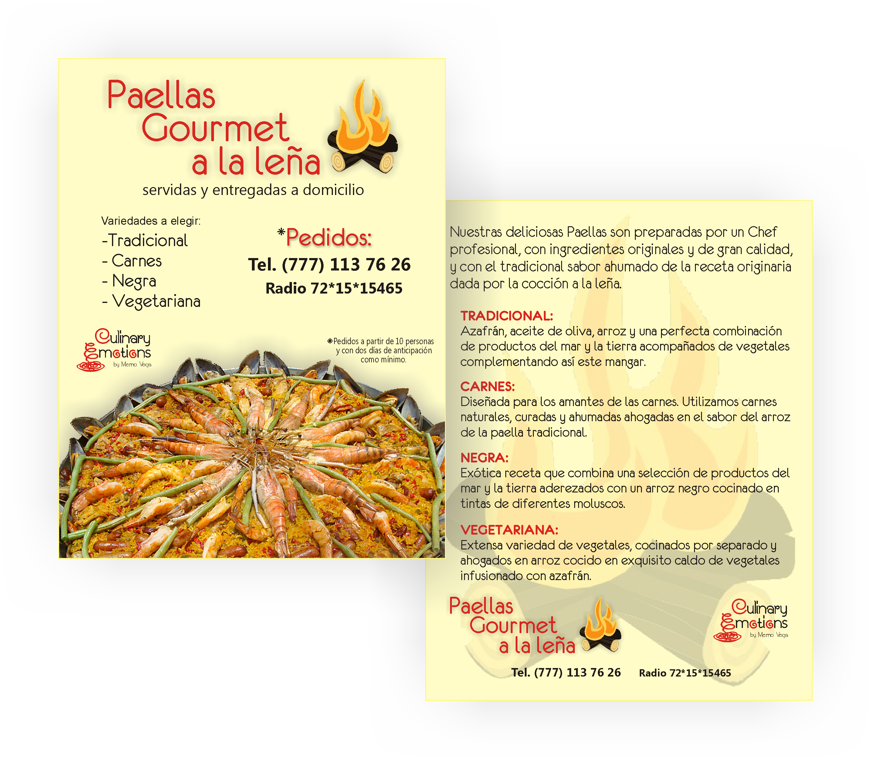 Flyer Paellas