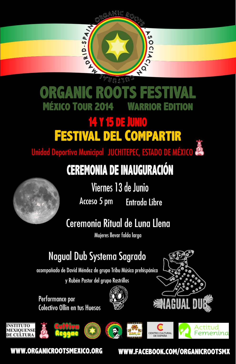 Cartel Inauguración Organic Roots Mx