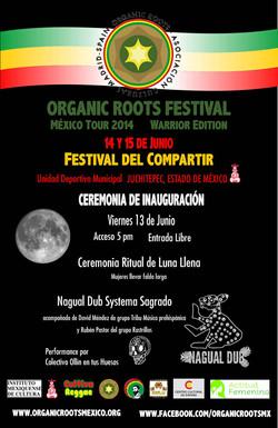 Cartel Inauguración Organic Roots Mx