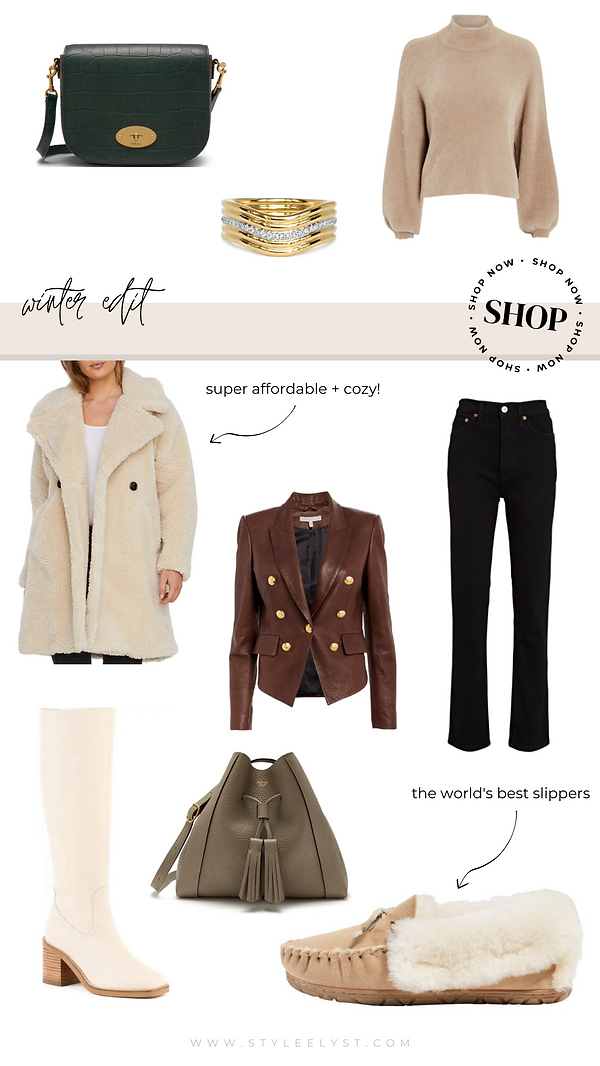 winter outfit inspo and holiday gifts