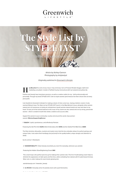 the style list by stylee lyst greenwich