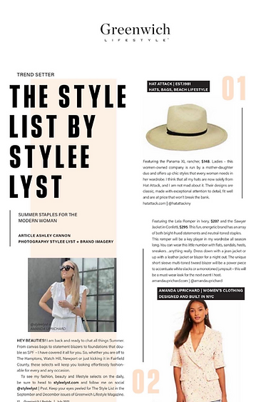 The Style List by STYLEE LYST Greenwich Lifestyle Magazine July 2021