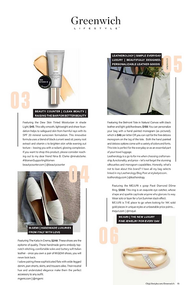 The Style List by STYLEE LYST July Issue _ Fashion Column