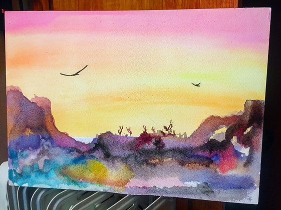 Arizona landscape watercolor