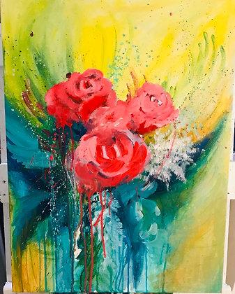 Thanks for the rose 18x24