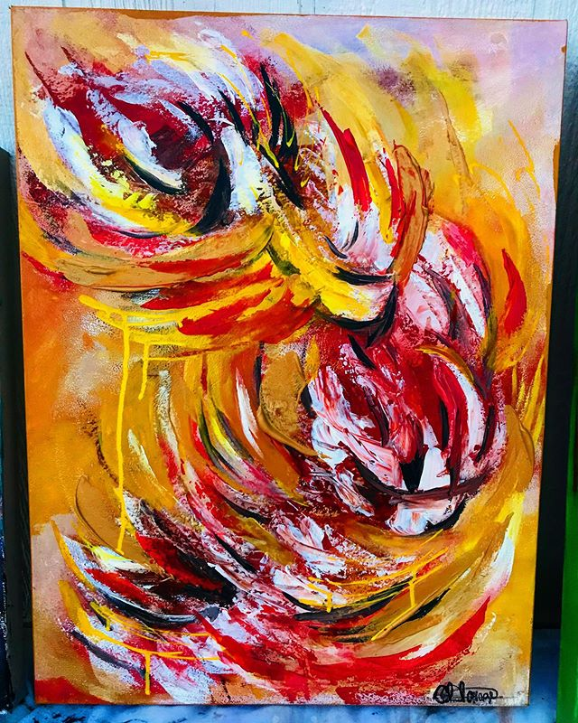 Acrylic piece for tonight's art show! #c