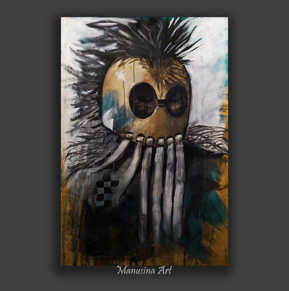 HAWAIIAN WARRIOR Canvas print Stretched