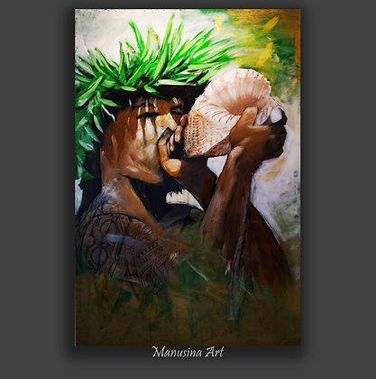 MESSENGER Canvas Print Stretched