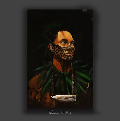 Tahitian Guardian Canvas Print Stretched