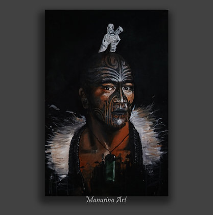 MAORI GUARDIAN Canvas Print Stretched