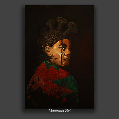 HAWAIIAN GUARDIAN Canvas Print Stretched