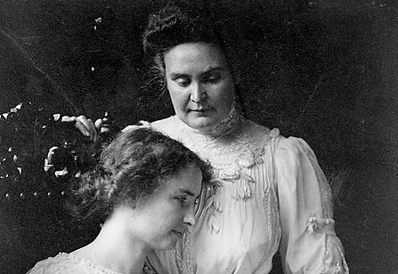 Hellen Keller and Anne Sullavin