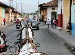 Horse carriage ride Granada Nicaragua