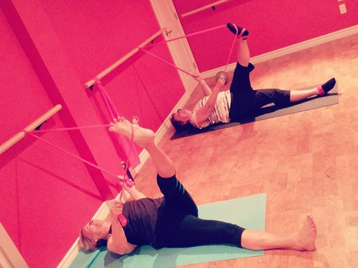 You may find this flexibility and flow Barre pose is an excellent way to end your day as well