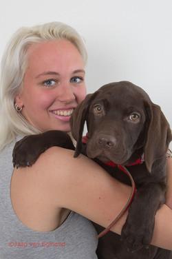Model &  Puppy