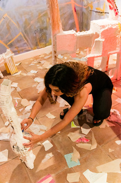 artist interacting with space - detail