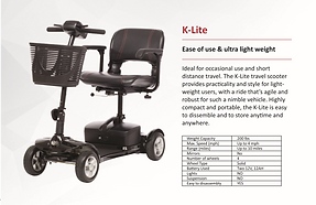 New York Mobility Scooter Kymco K-Lite Scooter