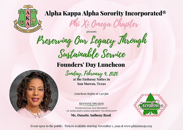 Founders Day 2020 Flyer