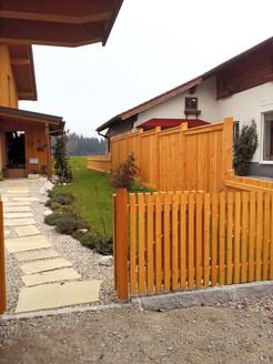 Zaun mit Sichtschutz