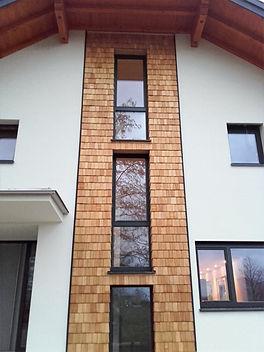 Fassade Zimmerei Holzbau Greisberger