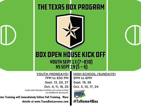 TEXAS BOX PROGRAM OPEN HOUSE