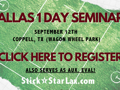 1 Day Dallas Seminar Sept. 12