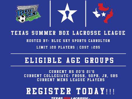 Texas BOX SUMMER League