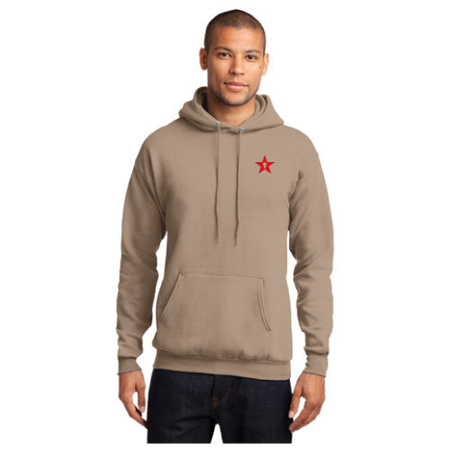 Khaki Hoody w/ Red StickStar