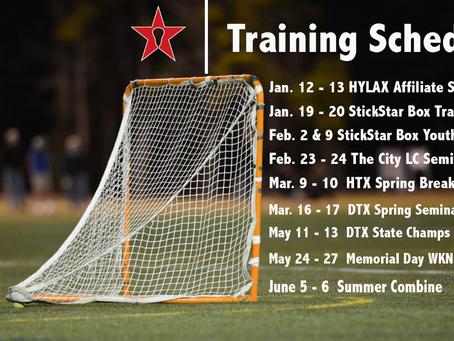 StickStar Spring Training Schedule
