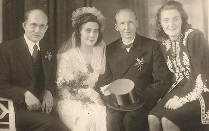 Hochzeitsfoto Georg und Ursula Kruse geb. Schumacher 1947. Kruse Baiersdorf