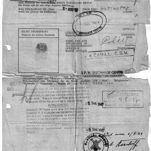Entlassung aus der Kriegsgefangenschaft 05.08.1947 (1)