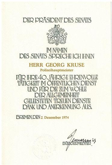 40. Dienstjubiläum von Georg Kruse. Baiersdorf