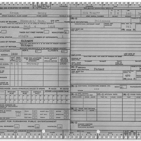 Karteikarte Kriegsgefangenschaft USA (1)