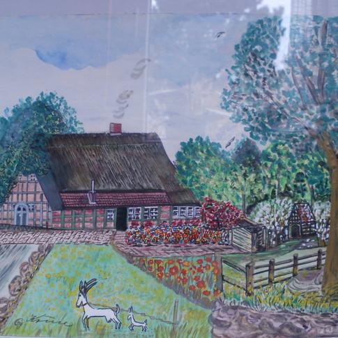 Aquarell (2) gemalt von Georg Kruse (1915-1998)