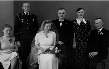 Hochzeitsfoto Hermann und Frieda Stoffers 1939. Kruse Baiersdorf