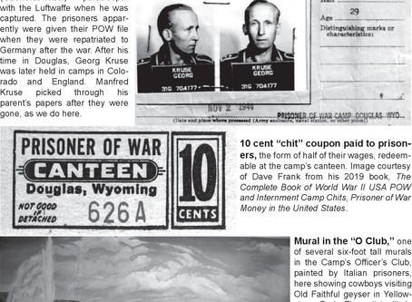 P.O.W. Camp Douglas in Wyoming 1945