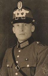Georg Kruse als Schutzmann 1938. Kruse Baiersdorf